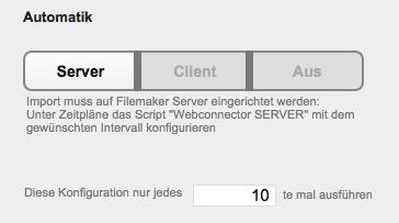 Webconnector Automatik Server