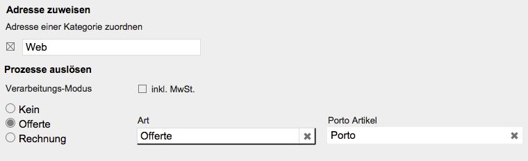 Webconnector Adresse zuweisen