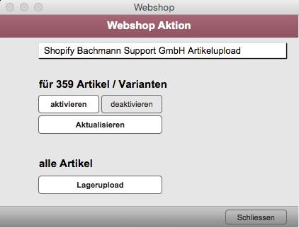 Webconnector Artikelupload Aktion