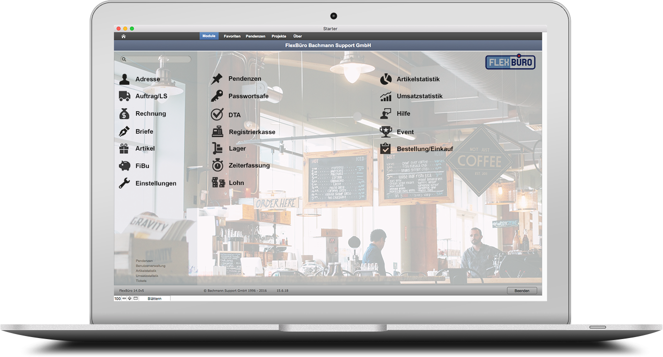 FlexBüro für Restaurants & Cafés