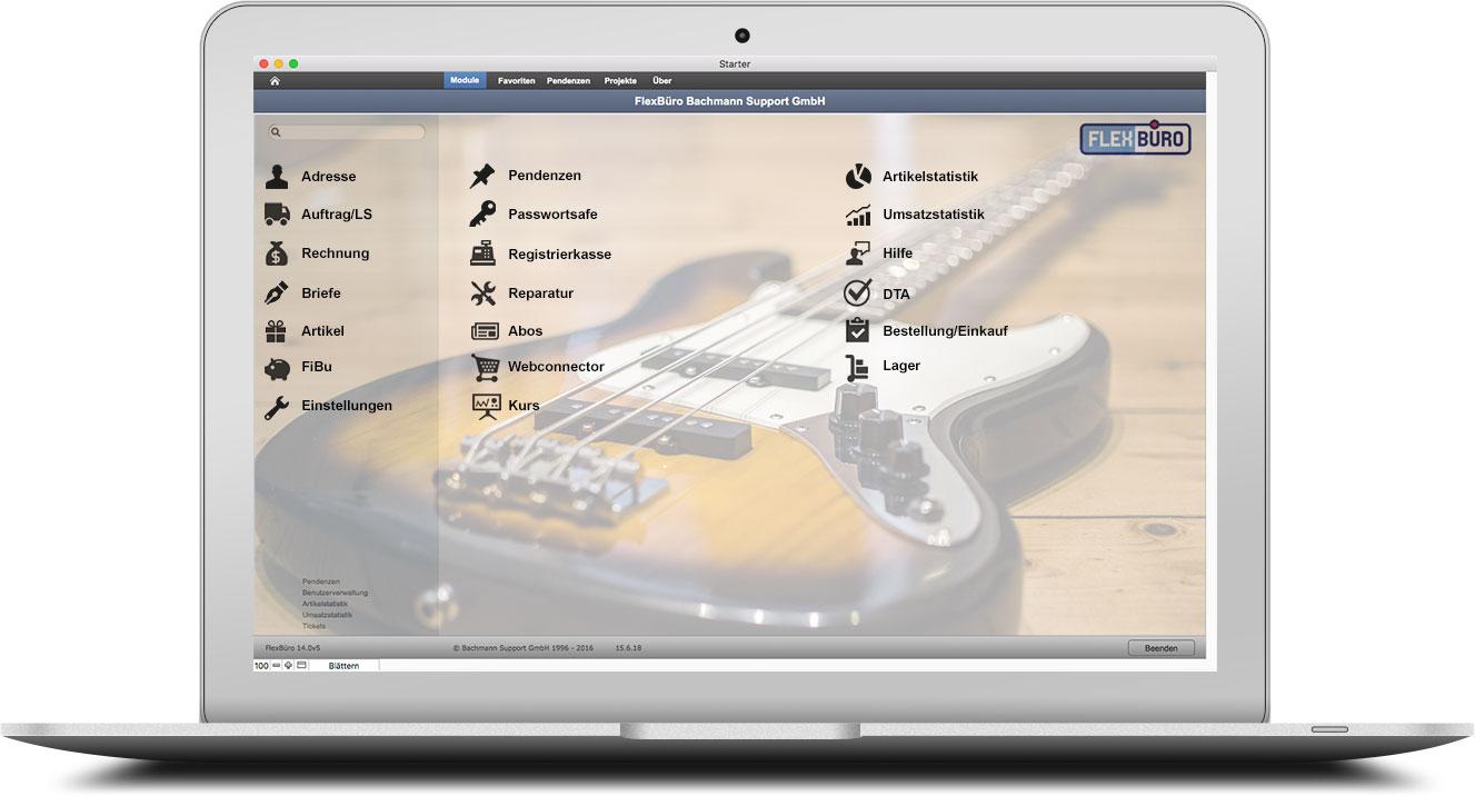 FlexBüro für Musik-Shops