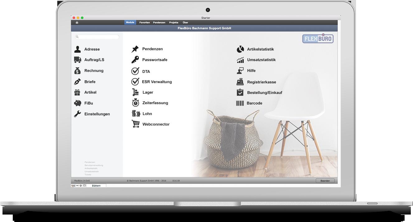 FlexBüro für Möbel- & Einrichtungshäuser